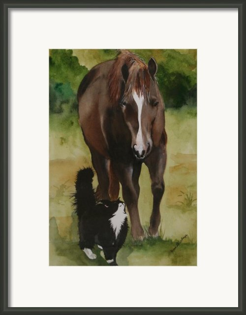 Oscar And Friend Framed Print By Jean Blackmer