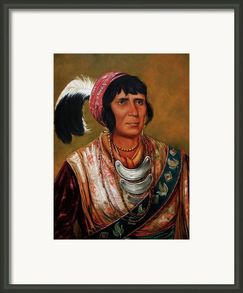 Osceola The Black Drink A Warrior Of Great Distinction By John Travisano After George Catlin Framed Print By John Travisano