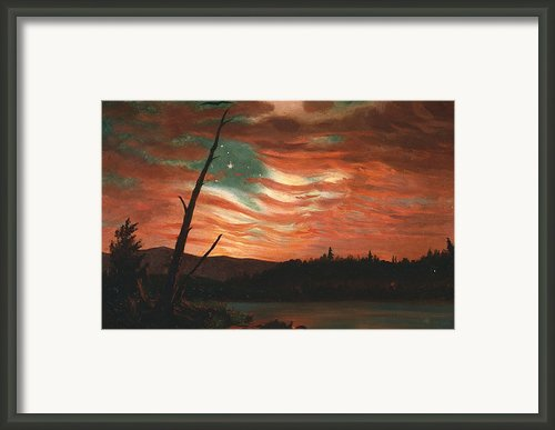 Our Banner In The Sky Framed Print By Frederic Edwin Church