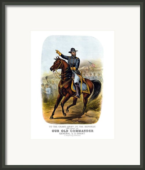 Our Old Commander Framed Print By War Is Hell Store