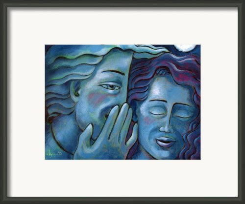 Our Secret Painting 49 Framed Print By Angela Treat Lyon