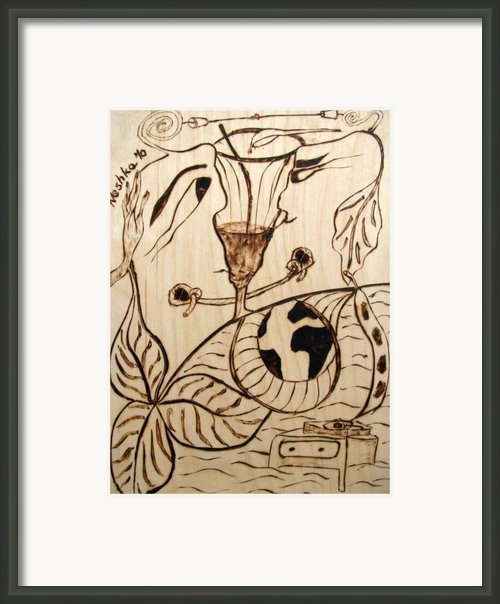 Our World No.5  Married Miscommunication Framed Print By Neshka Agnieszka Muchalska