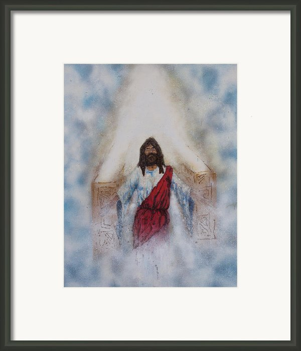 Out Of The Midst Of The Throne Came The Lamb Framed Print By Thomas Lentz