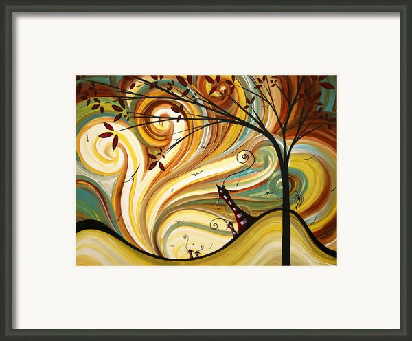 Out West Original Madart Painting Framed Print By Megan Duncanson