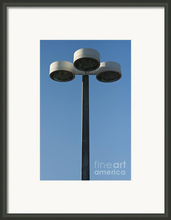 Outdoor Lamp Post Framed Print By Blink Images