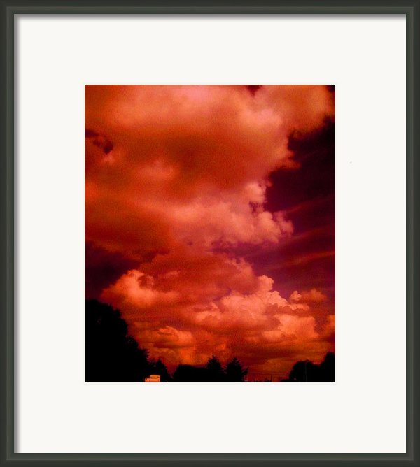 Over Cast Framed Print By Allen N Lehman