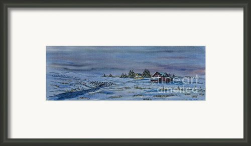 Over The Bridge And Through The Snow Framed Print By Charlotte Blanchard