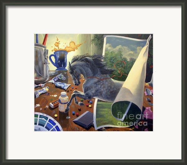 Over The Edge Framed Print By Jeanne Newton Schoborg