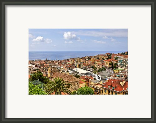 Over The Roofs Of Sanremo Framed Print By Joana Kruse