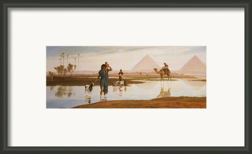 Overflow Of The Nile Framed Print By Frederick Goodall