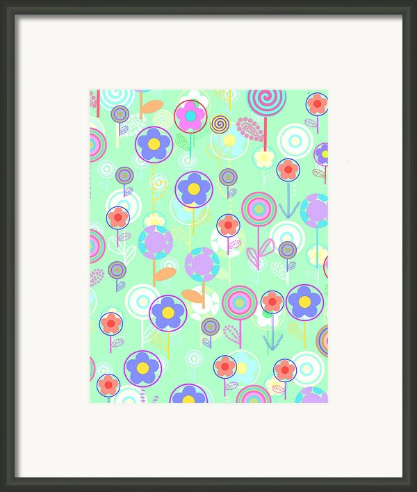 Overlayer Flowers  Framed Print By Louisa Knight