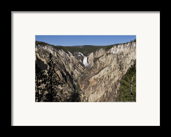 Overlook Falls Framed Print By Charles Warren