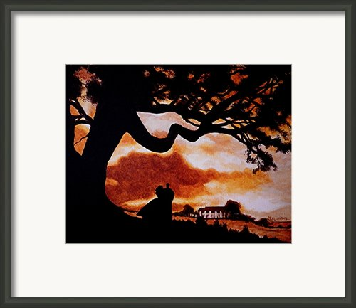 Overlooking Tara At Sunset Framed Print By Al  Molina