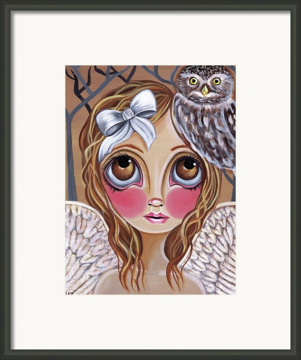 Owl Angel Framed Print By Jaz Higgins