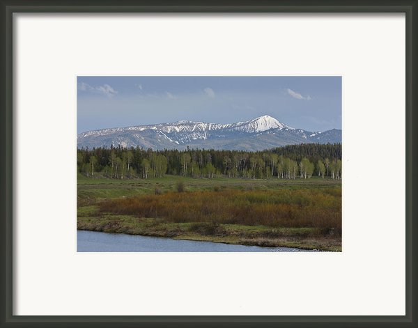 Oxbow Bend Framed Print By Charles Warren