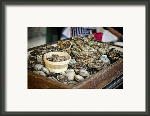 Oysters At The Market Framed Print By Heather Applegate