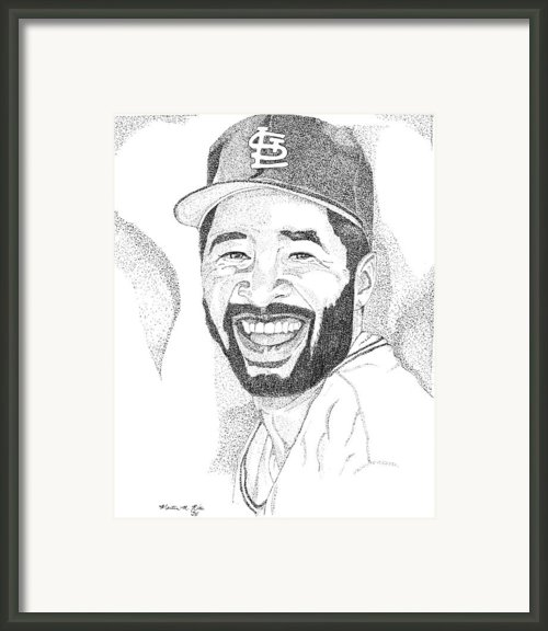 Ozzie Smith Framed Print By Marty Rice