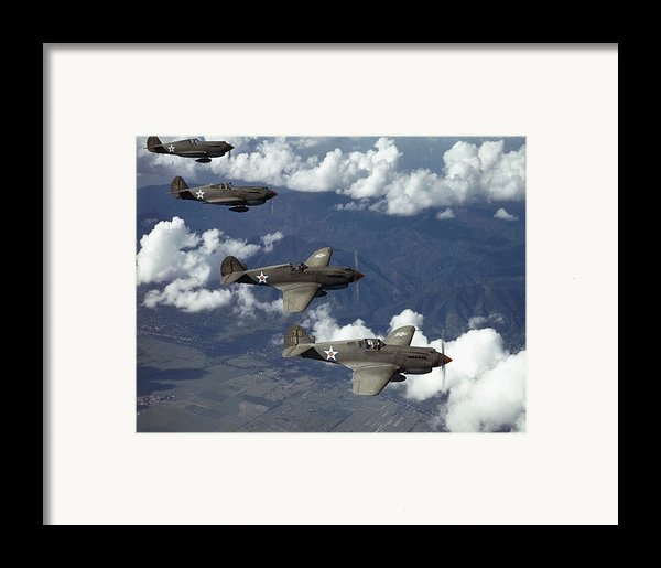 P-40 Pursuits Of The U.s. Army Air Framed Print By Luis Marden