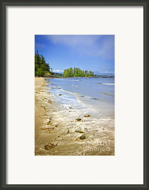 Pacific Ocean Coast On Vancouver Island Framed Print By Elena Elisseeva