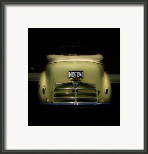 Packard Convertible V8 Juice       Framed Print By Steven  Digman