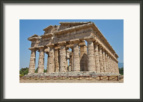 Paestum Temple Framed Print By Paolo Modena