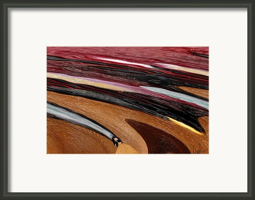 Paint Strokes Framed Print By Pam Gleichman
