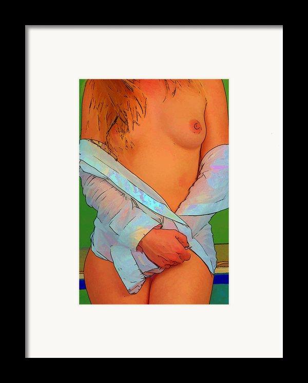 Painting Nude 013 Framed Print By Manolis Tsantakis