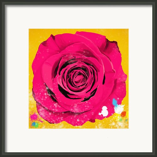 Painting Of Single Rose Framed Print By Setsiri Silapasuwanchai
