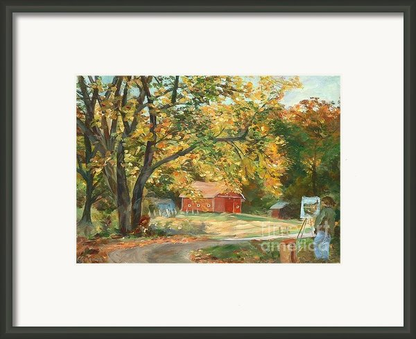 Painting The Fall Colors Framed Print By Claire Gagnon