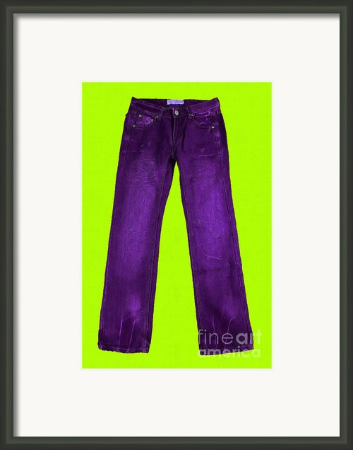 Pair Of Jeans 5 - Painterly Framed Print By Wingsdomain Art And Photography