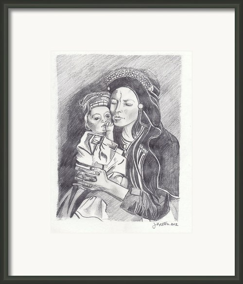 Pakistani Mother And Child Framed Print By John Keaton