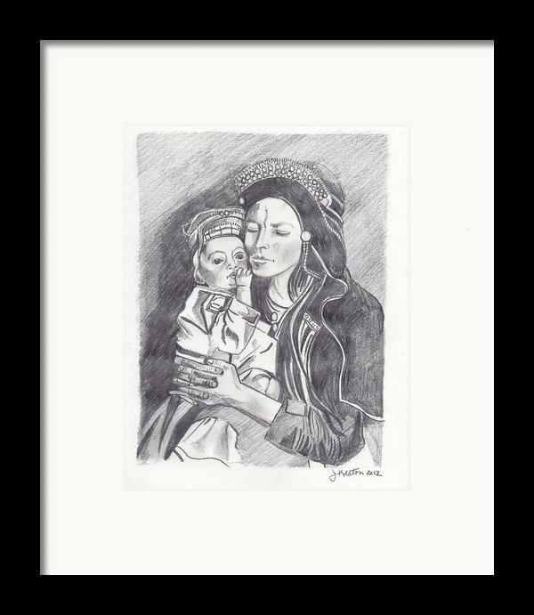 Pakistani Mother And Child Framed Print By John Keaton
