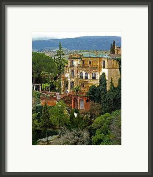 Palace Of The Arabian King - Ronda Framed Print By Juergen Weiss