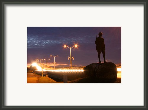 Palatka Memorial Bridge Doughboy Framed Print By Angie Bechanan