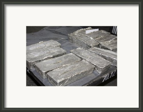 Palladium Bars Framed Print By Ria Novosti