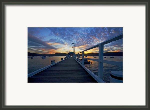 Palm Beach Wharf At Dusk Framed Print By Sheila Smart