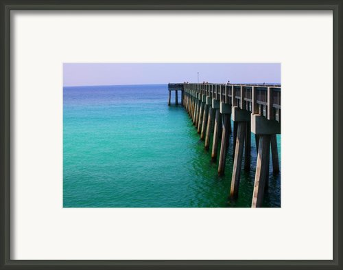 Panama City Beach Pier Framed Print By Toni Hopper