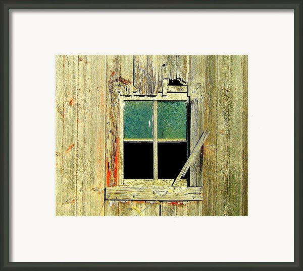 Paneless Framed Print By Claude Oesterreicher