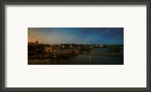 Panoramic Appleton Skyline Framed Print By Joel Witmeyer