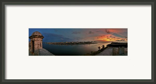 Panoramic View Of Havana From La Cabana. Cuba Framed Print By Juan Carlos Ferro Duque