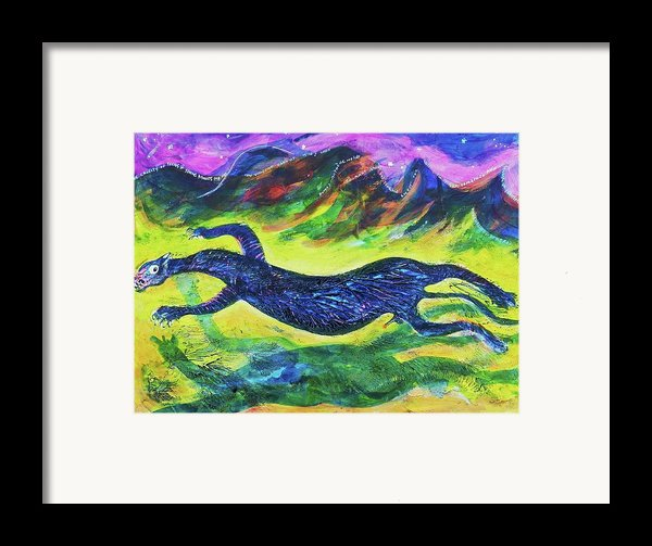 Panther In The Springtime Framed Print By Ion Vincent Danu