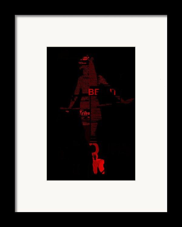 Paper Doll Framed Print By Naxart Studio