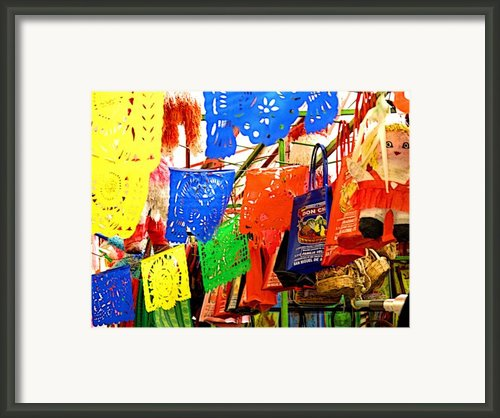Paper Strings Framed Print By Olden Mexico