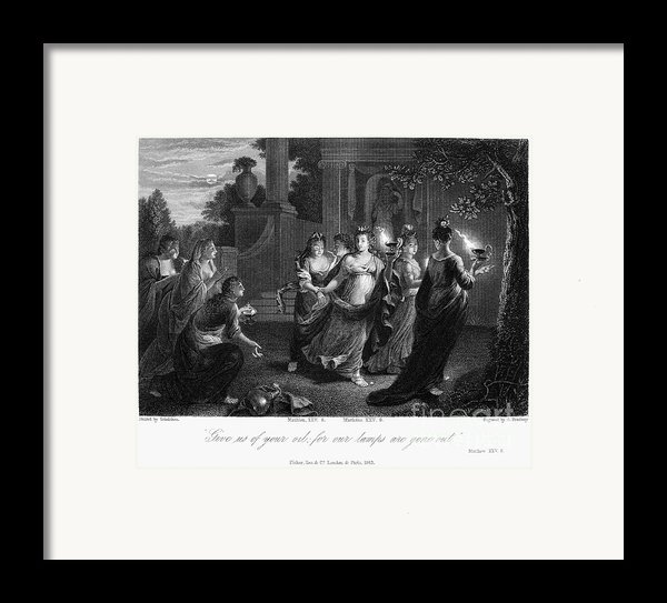 Parable Of Virgins Framed Print By Granger