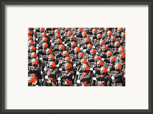 Parade March Indian Army Framed Print By Sumit Mehndiratta
