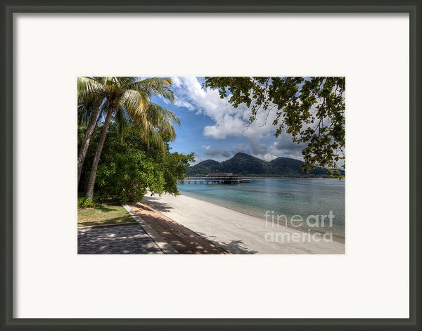 Paradise Island Framed Print By Adrian Evans