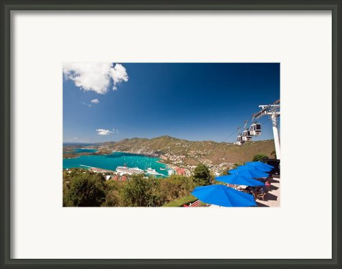 Paradise Point View Of Charlotte Amalie Saint Thomas Us Virgin Islands Framed Print By George Oze