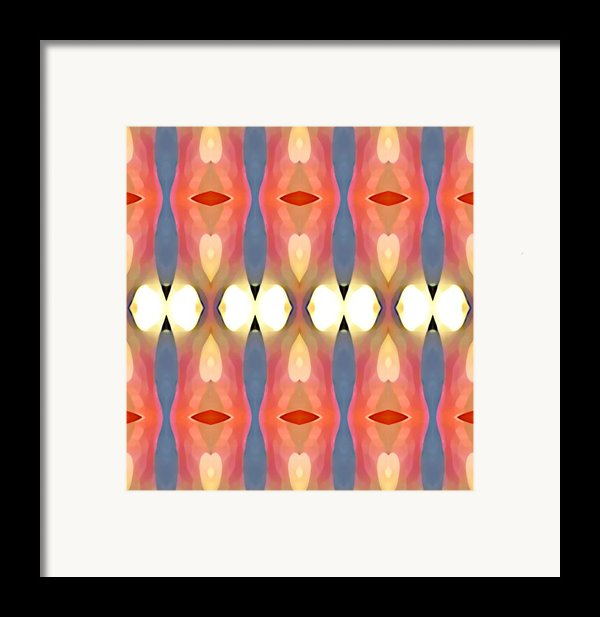 Paradise Repeated Framed Print By Amy Vangsgard