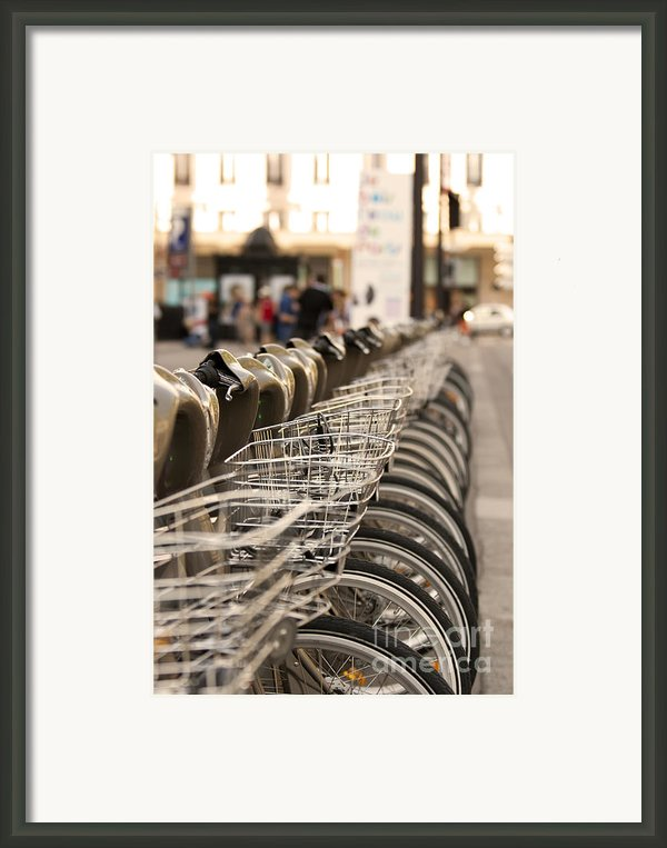 Paris Bikes Framed Print By Igor Kislev