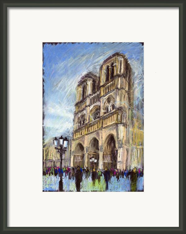 Paris Notre-dame De Paris Framed Print By Yuriy  Shevchuk